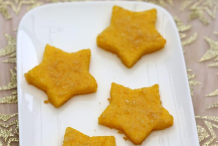 Étoiles de polenta pour un noël sans gluten