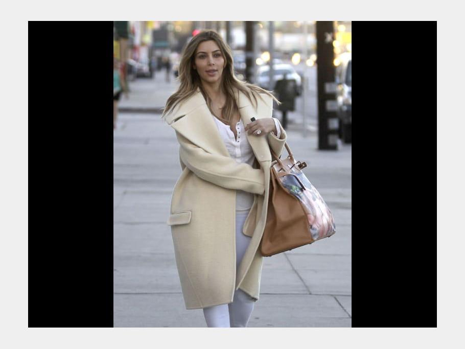 Kim Kardashian et son sac Hermès