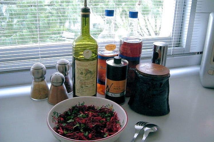 Carpaccio betteraves-brocolis