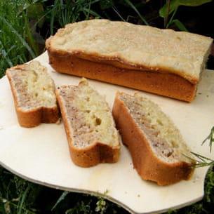 cake rhubarbe et noisettes (léger)