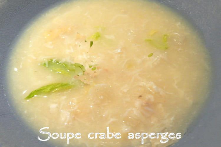Soupe au crabe et aux asperges