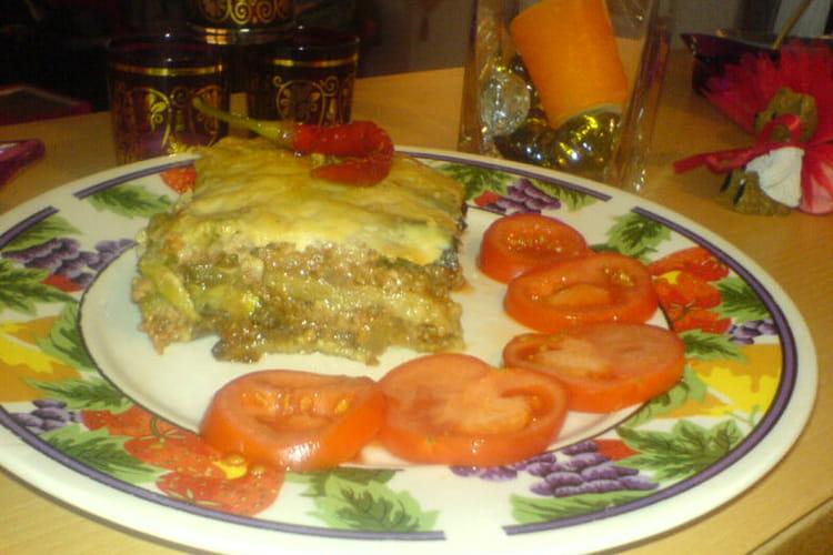 Lasagnes d'aubergines et de courgettes