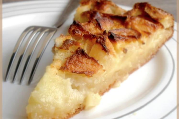 Gâteau aux pommes en biscuit