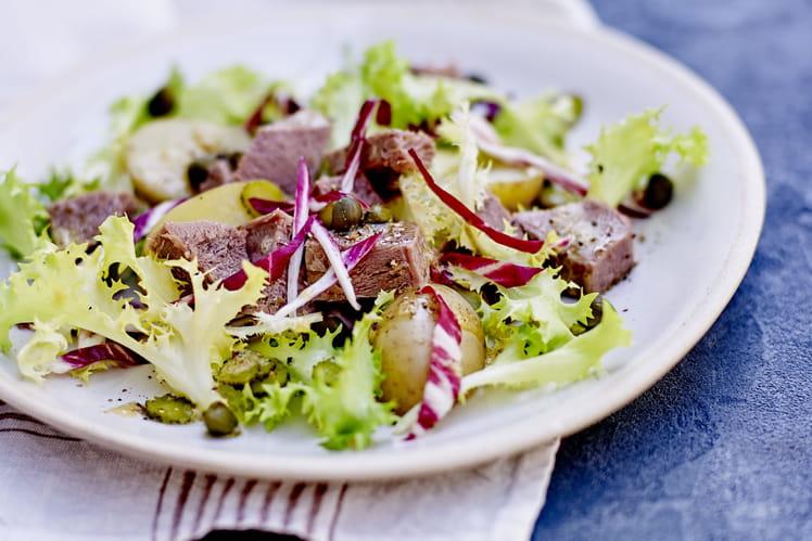 Salade acidulée de langue de veau