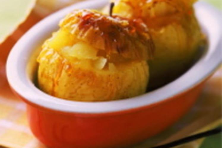 Pommes fourrées à la compote de pommes