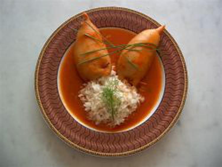 Recette encornets farcis la recette facile - Cuisiner des encornets ...