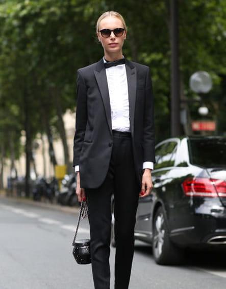 Street looks fashion week haute couture : haut standing