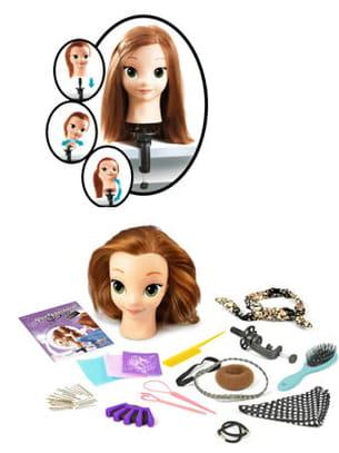 idéale pour s'entraîner à coiffer !