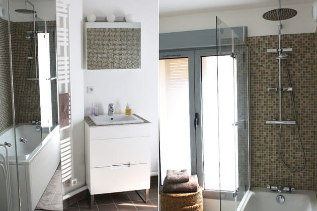 salle de bains spacieuse et fonctionnelle. Black Bedroom Furniture Sets. Home Design Ideas