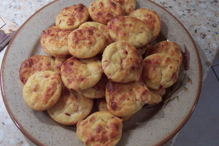 Mini cakes au jambon et gruyère