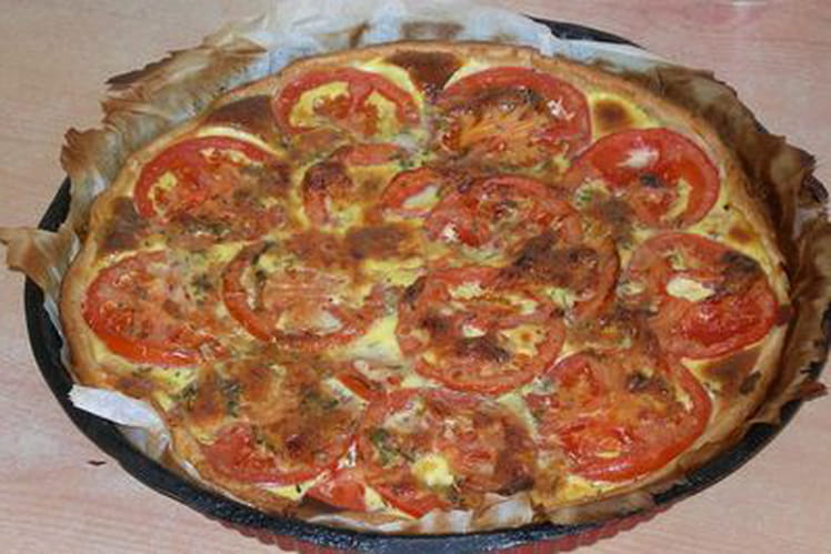 Tarte thon-tomates-moutarde