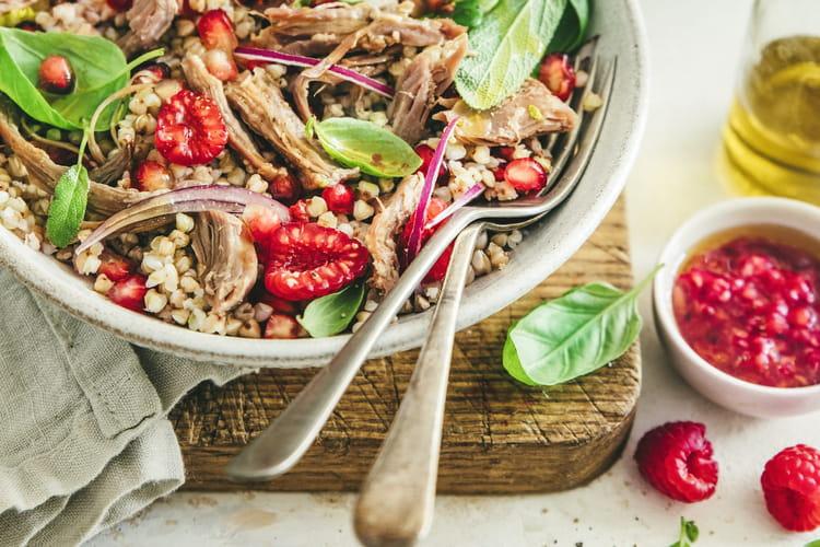Salade tiède de sarrasin au confit de canard
