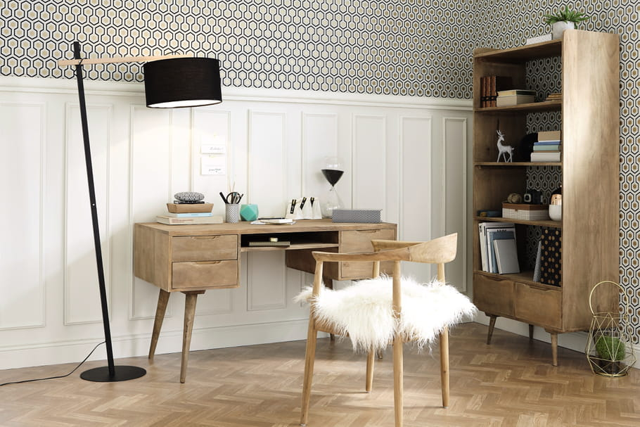 bureau trocadero par maisons du monde 13 bureaux pour. Black Bedroom Furniture Sets. Home Design Ideas