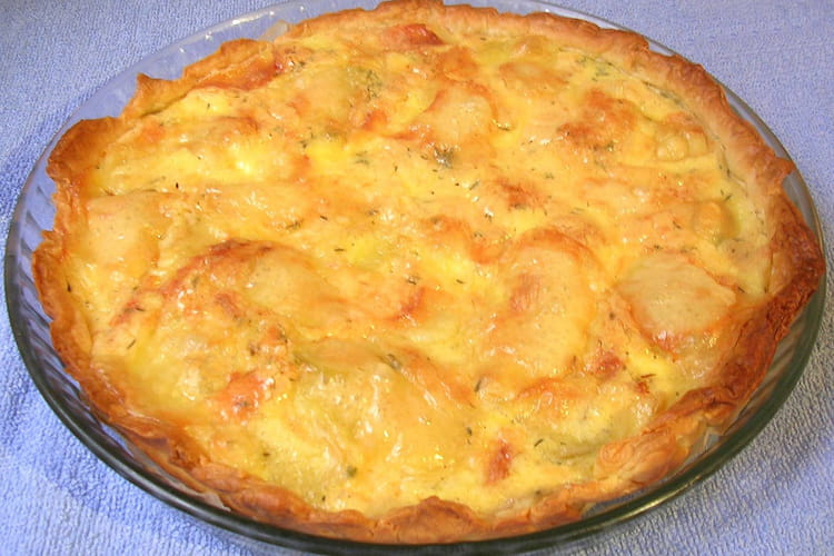 Tarte aux pommes de terre et fromage