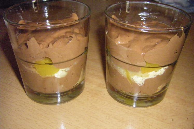 Tiramisu chocolat-pêche