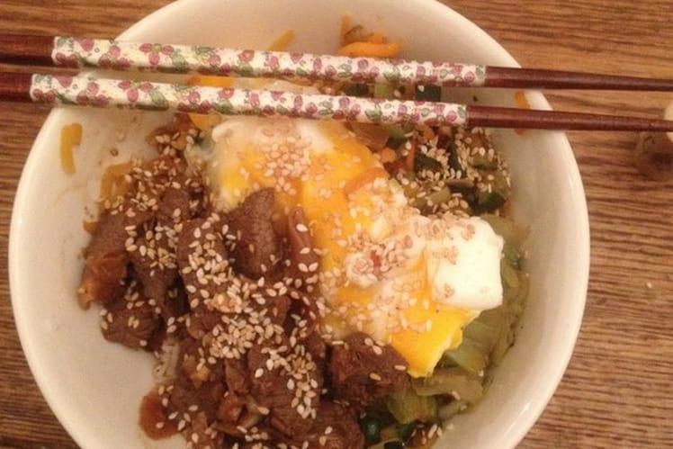 Soupe japonais aux gésiers de canard confits