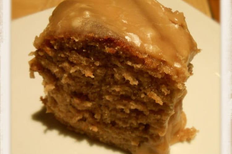 Gâteau à la vanille nappage caramel beurre salé