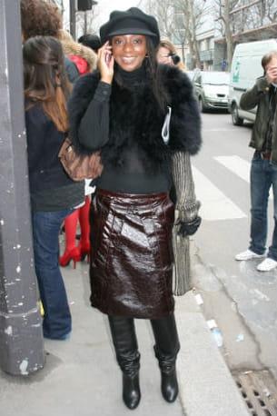 a la sortie du défilé manish arora prêt-à-porter automne-hiver 2012-2013 le 1er