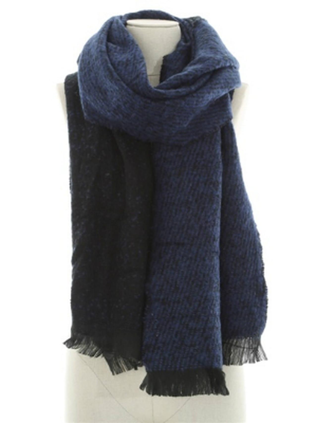 Écharpe-plaid bleue de Pimkie 84dc94d1f22