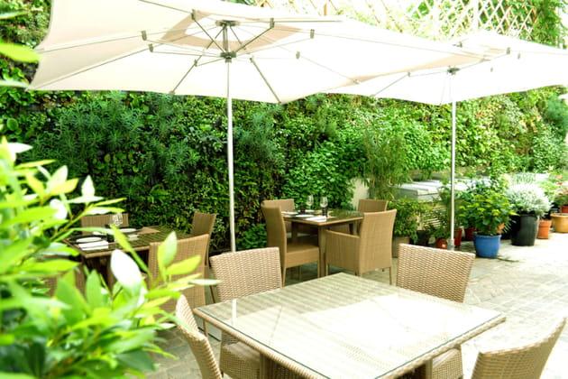 La terrasse du restaurant M64 à l'Hôtel InterContinental Paris - Avenue Marceau