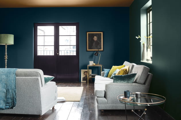 Peinture bleue et verte Dulux Valentine