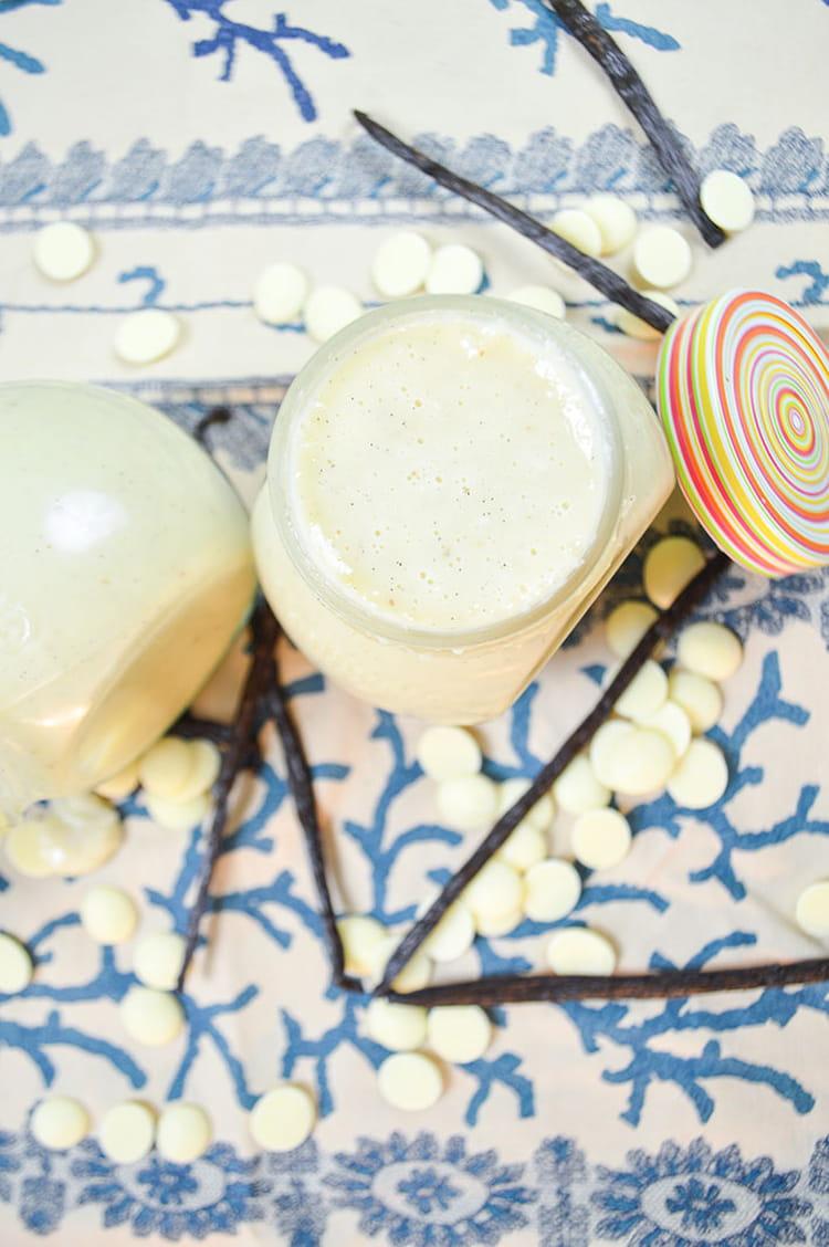 recette de p te tartiner chocolat blanc coco vanille. Black Bedroom Furniture Sets. Home Design Ideas