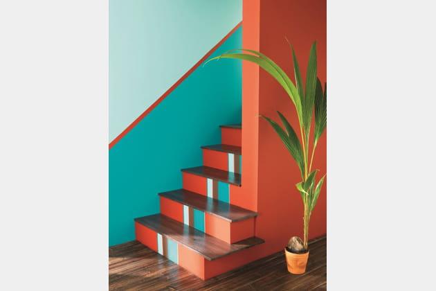 peinture bleu lagon par v33. Black Bedroom Furniture Sets. Home Design Ideas