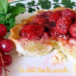 tartelettes vanille, amandes et fraises des bois