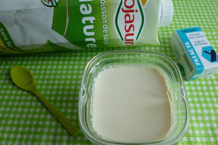 Yaourt léger au soja, végétarien et sans gluten