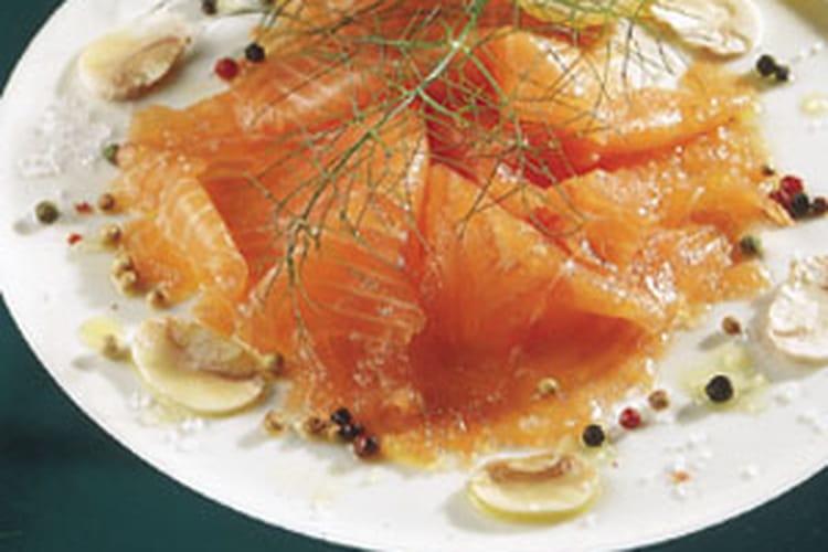 Saumon mariné aux agrumes