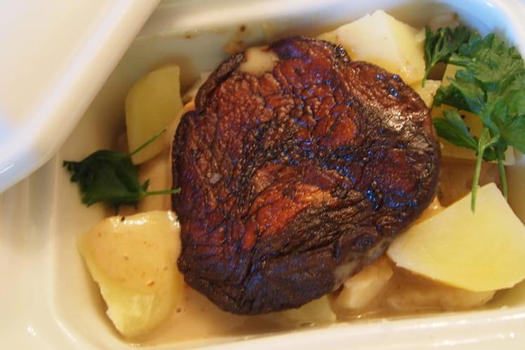 Ragoût de cabillaud cèpes-foie-gras