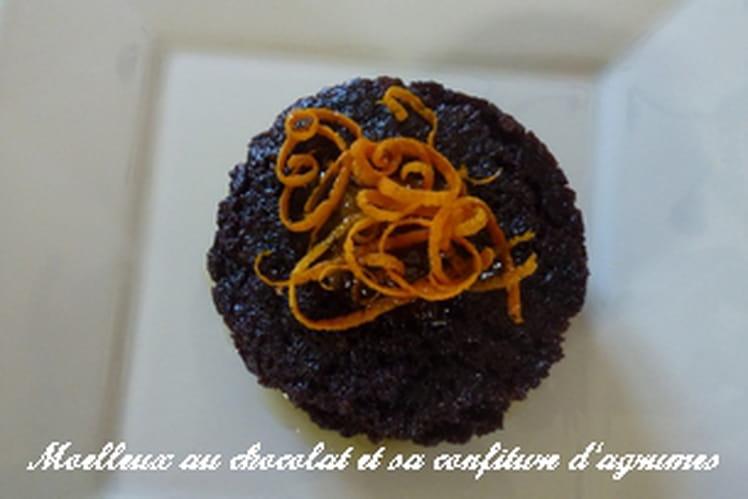 Moelleux au chocolat et sa confiture d'agrumes