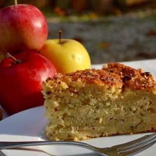 gâteau suédois aux pommes et noisettes