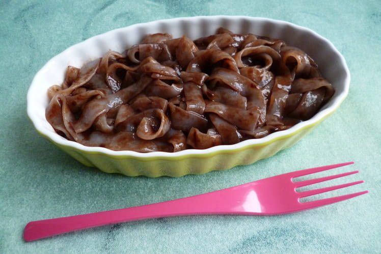 Tagliatelles de konjac au chocolat