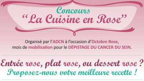"""""""La cuisine en rose"""", un concours pour sensibiliser au cancer du sein"""