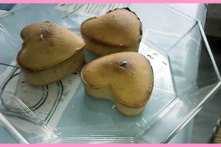 Muffins en coeur aux amandes