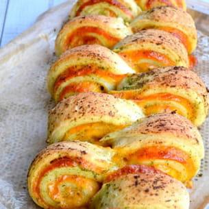 pain au cheddar, à l'ail & aux herbes