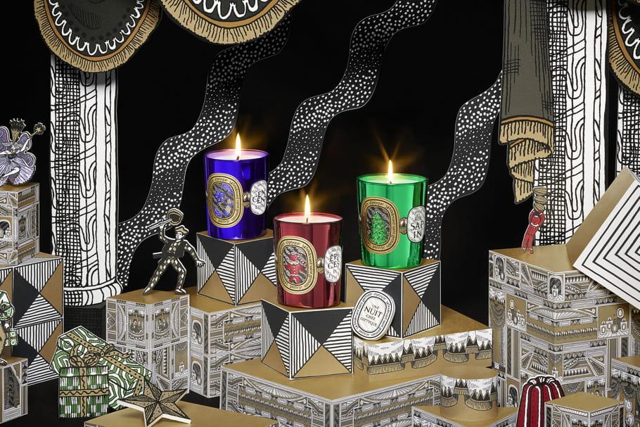 L'objet du désir: le triptyque de bougies deNoël diptyque