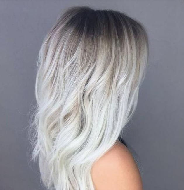 Ombre hair blond polaire