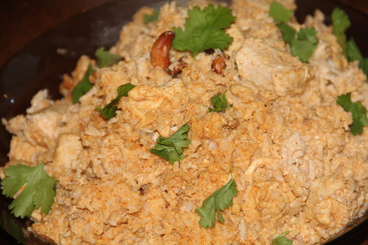 Poulet tandoori et riz aux noix de cajou