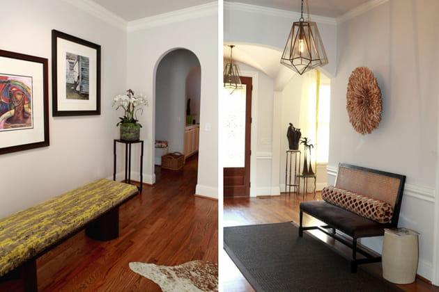 banc et banquette dans l 39 entr e. Black Bedroom Furniture Sets. Home Design Ideas