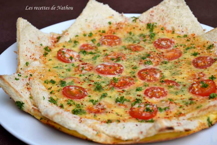 Omelette soleil aux tomates cerise, parmesan et piment d'Espelette