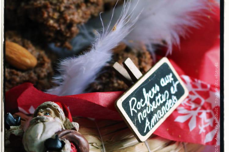 Rochers au cacao, amandes et noisettes