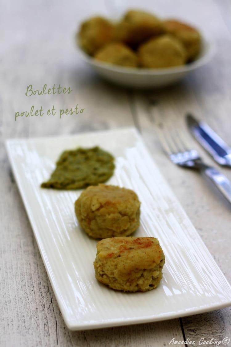 Recette de boulettes au reste de poulet r ti et pesto la recette facile - Cuisiner reste de poulet ...
