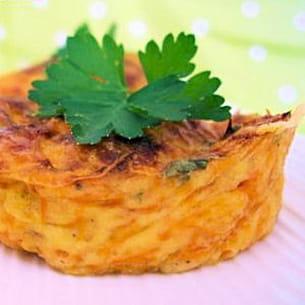 flan à la carotte et persil