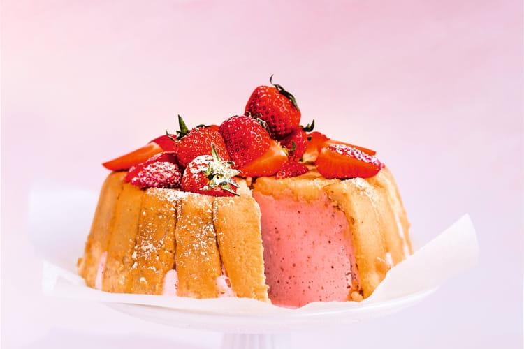 Charlotte aux fraises sans sucre