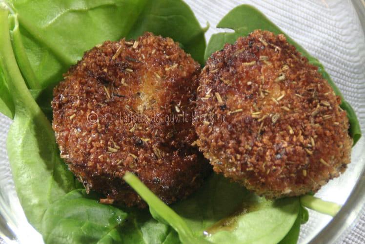 Roquefort pané aux herbes de Provence