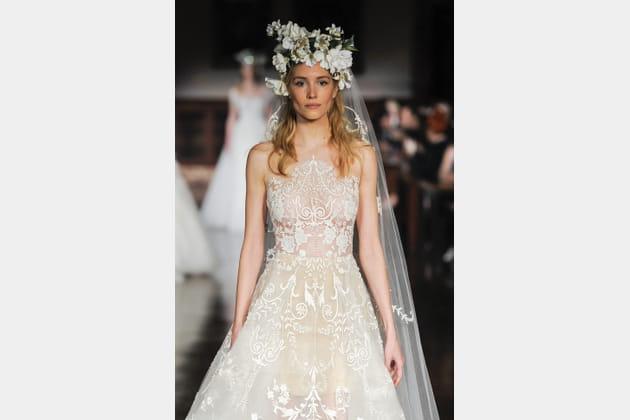 Robe de mariée champêtre, Reem Acra