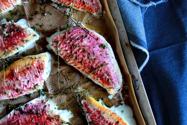 Filets de rougets à la fleur de sel et thym