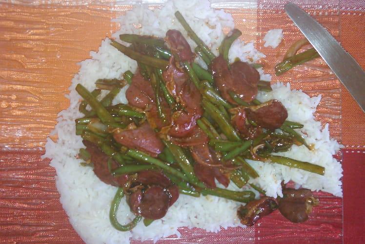 Sauté de bœuf et haricots verts